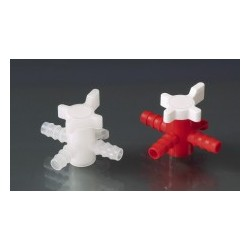 3-Way-Valve PE/PP for tubing inner -Ø 5-7 mm