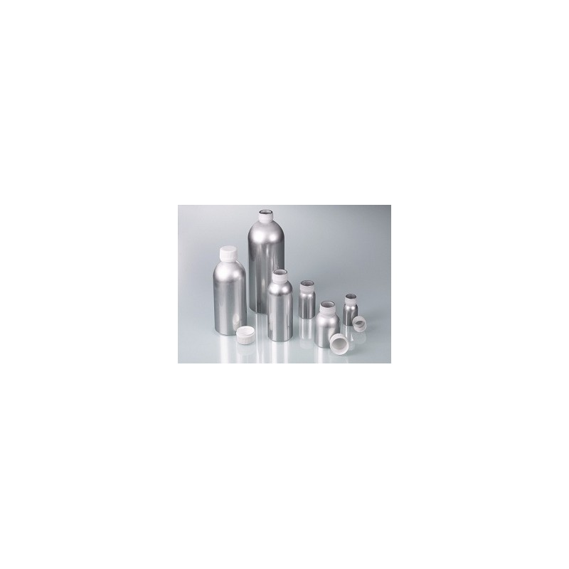 Aluminium bottle 38 ml with screw cap made of PP