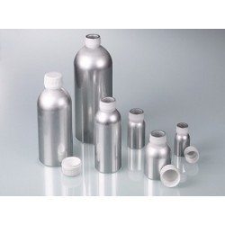 Aluminium bottle 60 ml UN- approved with screw cap made of PP