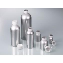 Butelka aluminiowa 60 ml cert. UN z zakrętką z PP