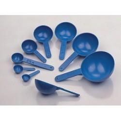 Volumetric spoon 0,5…50 ml PS blue set a 8 pcs.