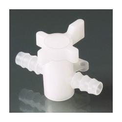 2-Wege-Ventil PVDF für Schlauch innen Ø 5-7 mm
