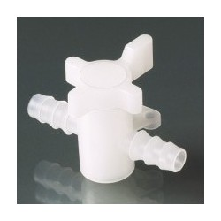2-way valve PVDF for tubes with inner-Ø 7-9 mm