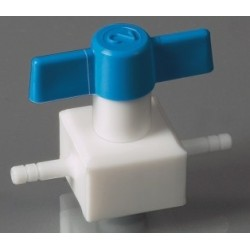 2-Wege-Ventil PTFE für Schlauch innen Ø 10 mm