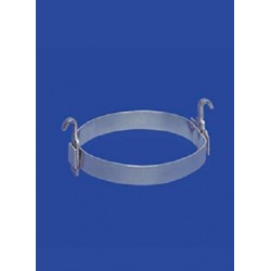 Alu rings with hooks NS45 pack 10 pcs.