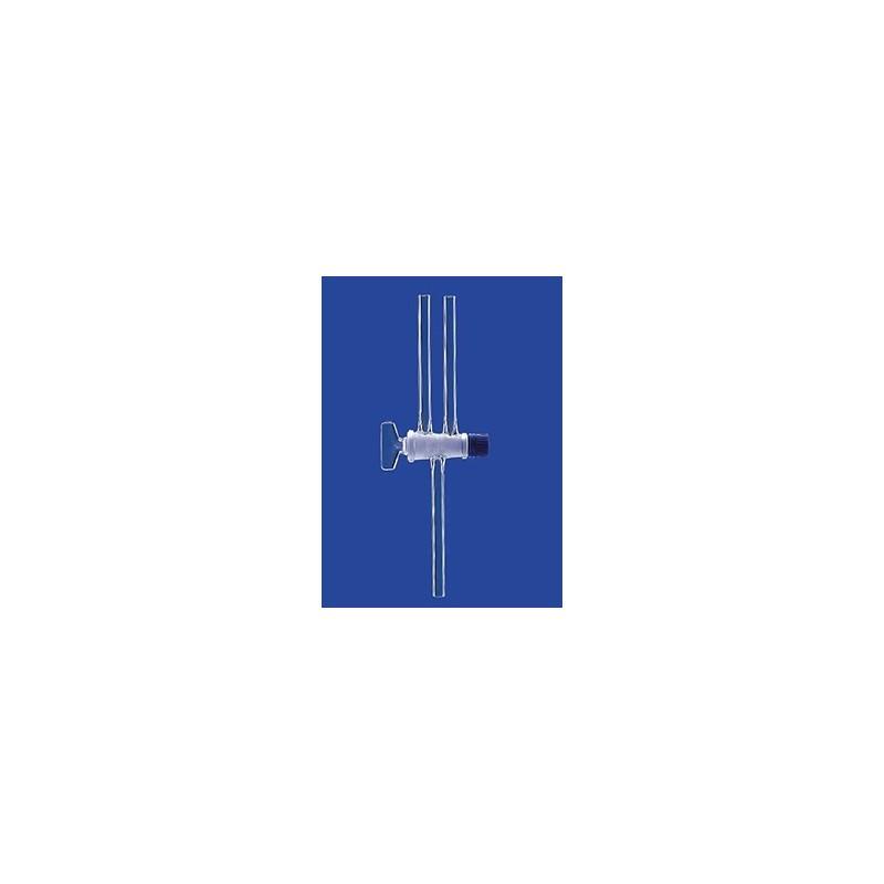 Dwudrożny zawór kulowy kranik szklany NS18 otwór 4 mm