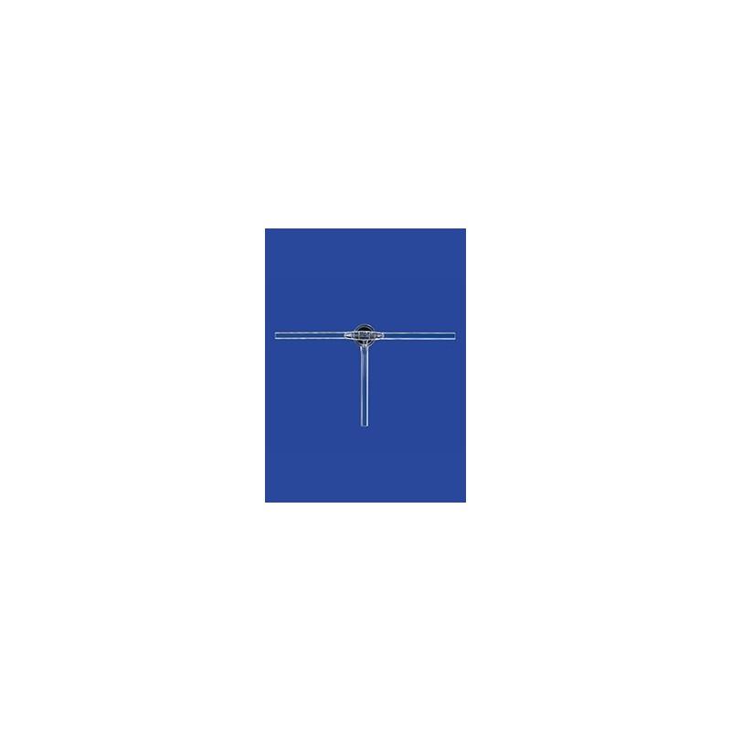 Dreiweg-Kegelhahn mit Glasküken Duran NS14,5 Bohrung 1,5 mm