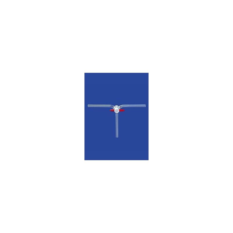 Dreiweg-Kegelhahn nach Czako PTFE Duran NS18,8 Bohrung 4 mm