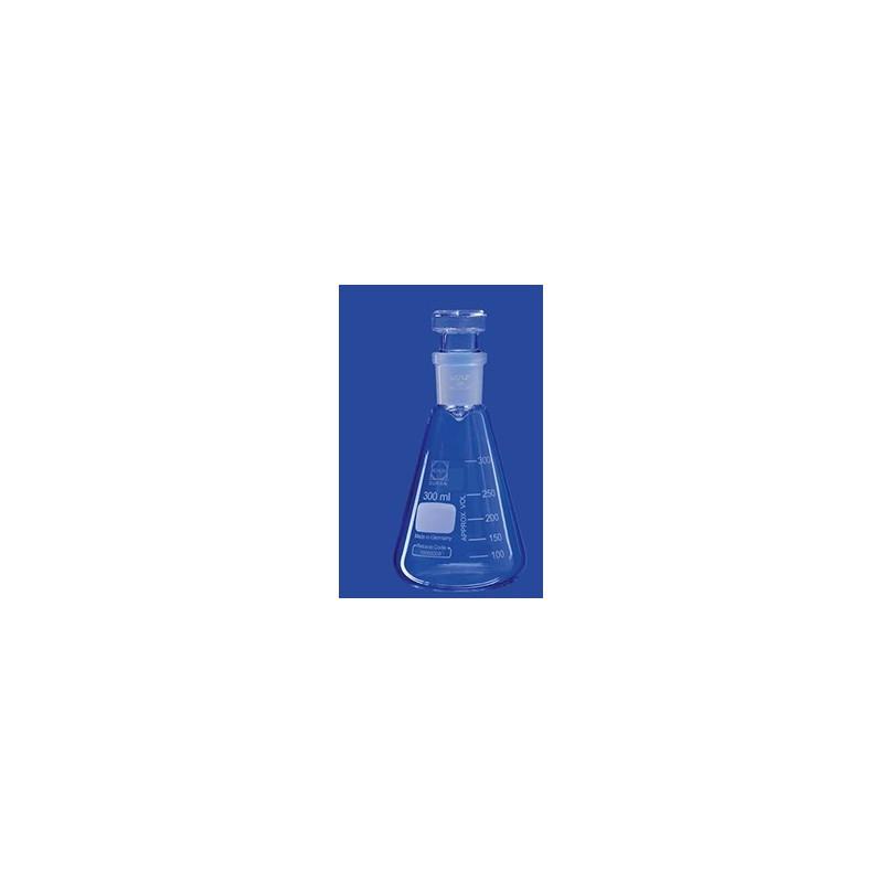 Jodzahlkolben ohne Kragen Duran 300 ml Hohlstopfen NS29/32 VE
