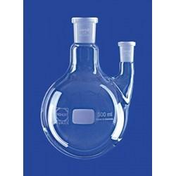 Kolba okręgłodenna 2-szyjna 100 ml szyja boczna równoległa