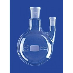 Kolba okręgłodenna 2-szyjna 2000 ml szyja boczna równoległa