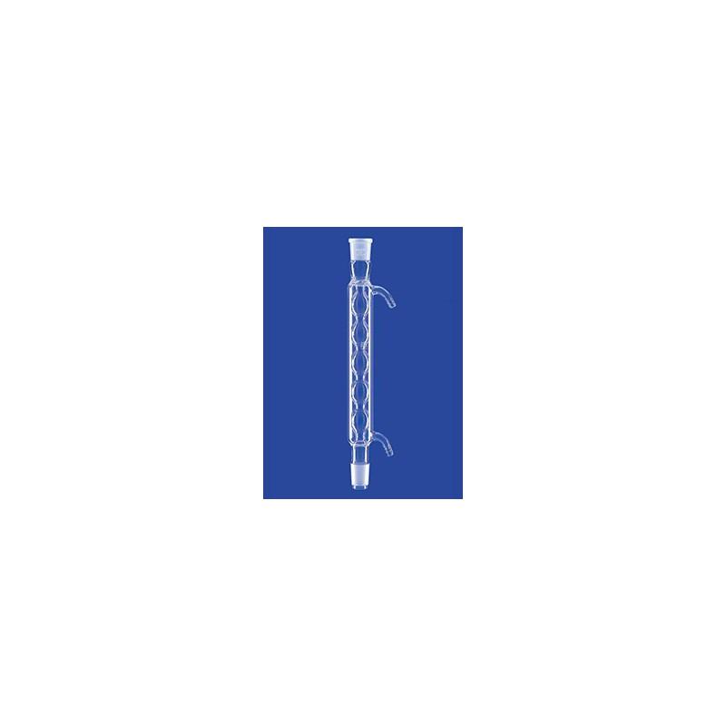 Allihn-Kühler mit Kern und Hülse NS14/23 Wasseranschluß Olive