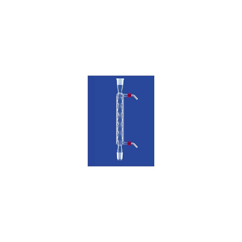 Allihn-Kühler mit Kern und Hülse NS19/26 Wasseranschluß GL 14