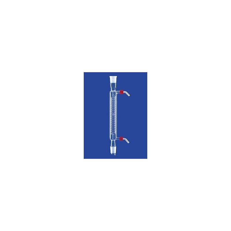 Schlangenkühler mit Kern und Hülse Wasseranschluß GL 14 Glas