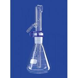 Rozpylacz 100 ml NS19/26 szklanny kompletny z klamrą i gumową