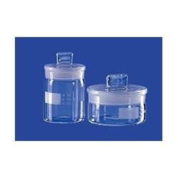 Wägeglas hohe Form mit austauschbarem NS-Deckselstopfen Glas