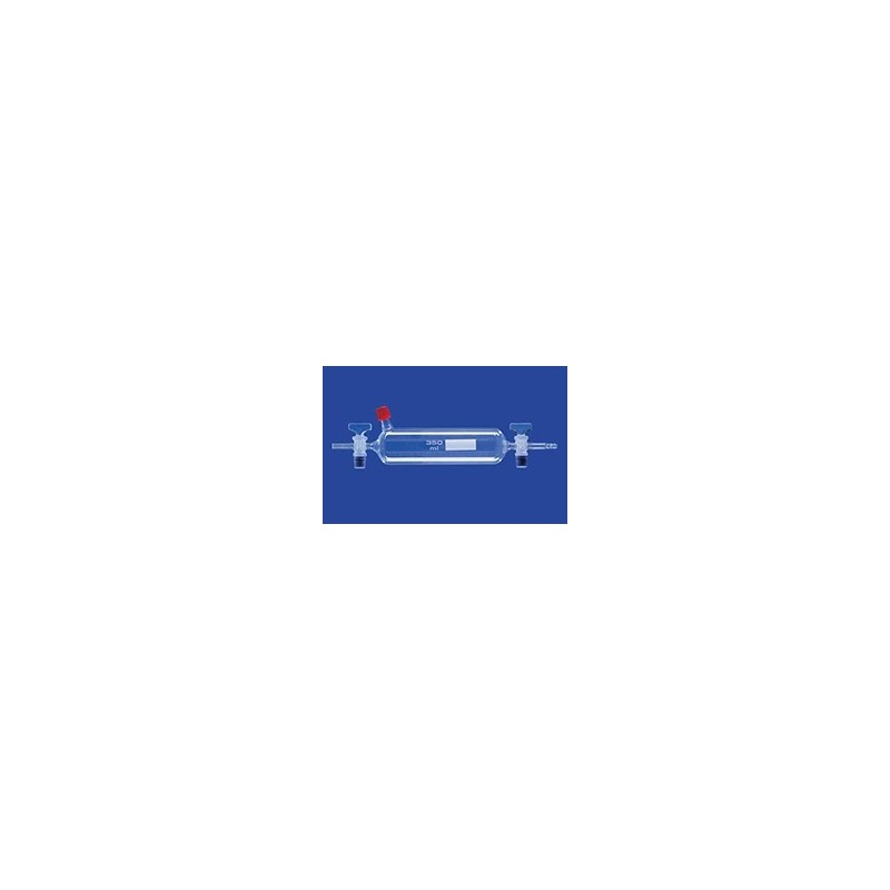 Gas sampling tube with nozzle 350 ml thread GL 14 glass