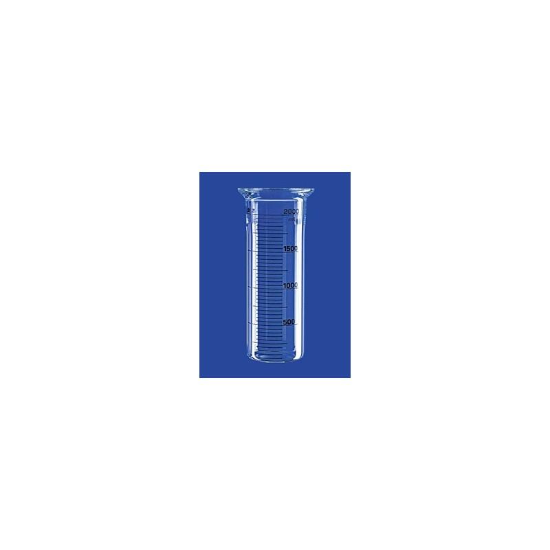Naczynie reakcyjne 0,1 L cylindryczne płaskie szklane kołnierz
