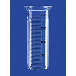 Reaktionsgefäß 0,25 L zylindrisch flach Glas Flansch DN60