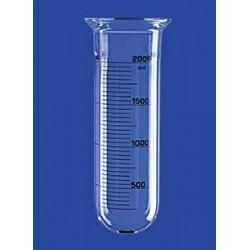 Reaktionsgefäß 0,25 L zylindrisch rund Glas Flansch DN60