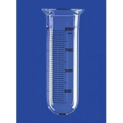 Reaktionsgefäß 6 L zylindrisch rund Glas Flansch DN150