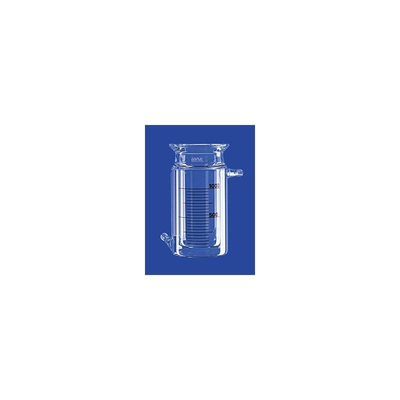 Reaktionsgefäß 0,1 L zylindrisch mit Temperiermantel GL 14 Glas