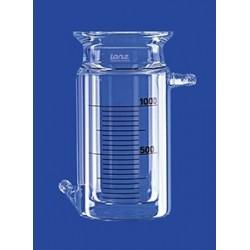 Reaktionsgefäß 0,5 L zylindrisch mit Temperiermantel GL 14 Glas