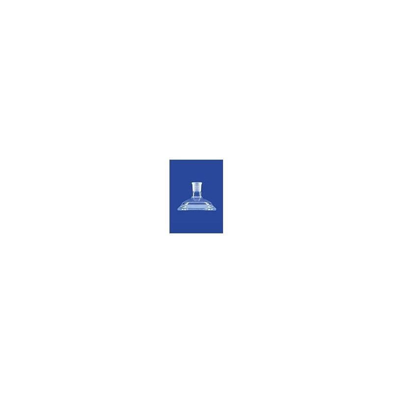 Planschliff-Deckel Mittelhals Glas Flansch DN60 NS14/23