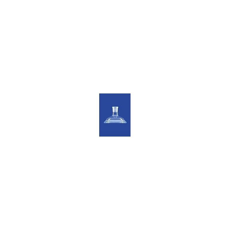 Planschliff-Deckel Mittelhals Glas Flansch DN100 NS14/23