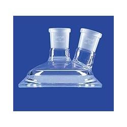 Planschliff-Deckel Mittelhals ein schräger Seitenhals Glas