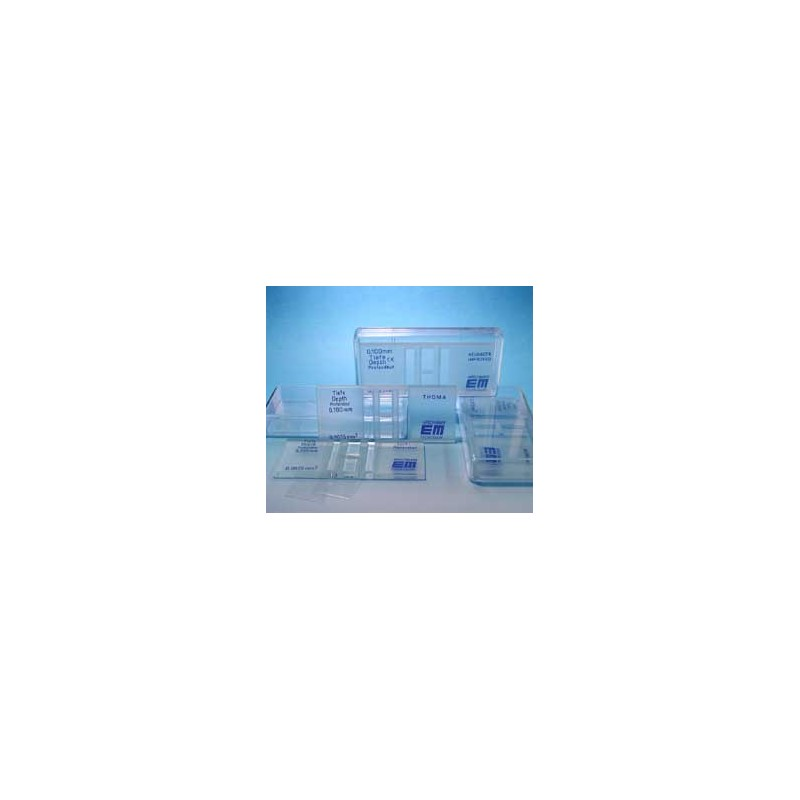 Zählkammer nach Bürker dunkellinig Tiefe 0,1 mm CE IVD 98/79