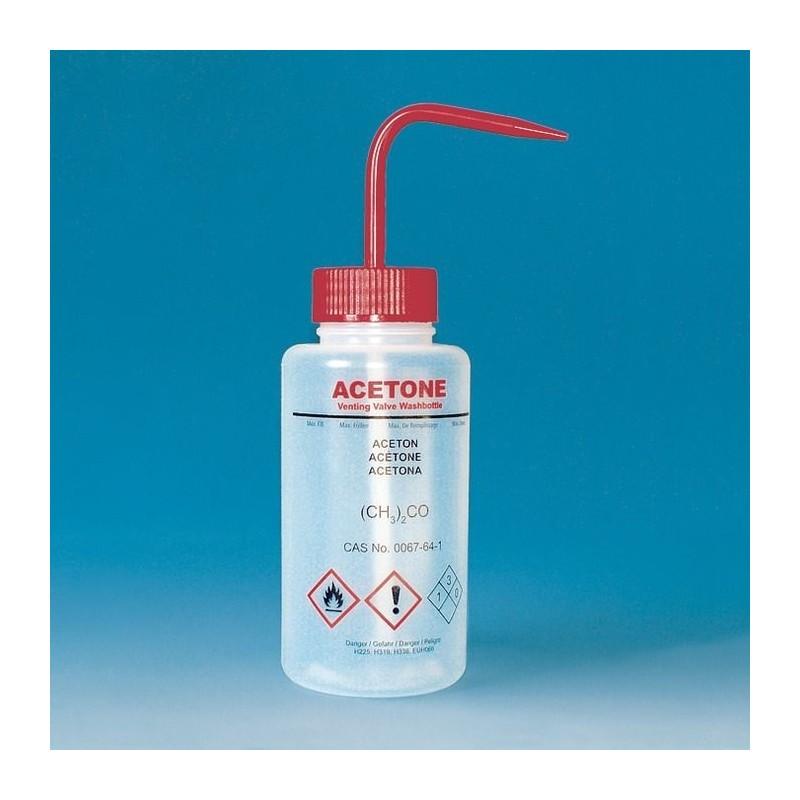 """Sicherheitsspritzflasche """"Aceton"""" 250 ml PE-LD weithals"""