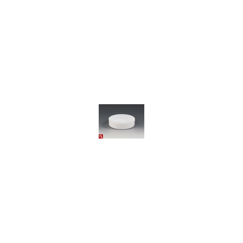 Evaparating dish PTFE 250 ml with spout cylindrical