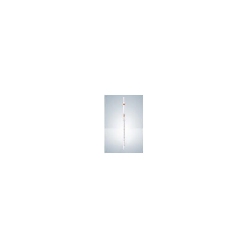 Messpipette AS 1:0,1 ml AR-Glas KB Nullpunkt oben braun