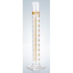 Measuring cylinder 10 ml Duran class A CC ring graduation amber