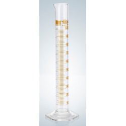 Messzylinder 100 ml Duran Klasse A KB Ringteilung braun