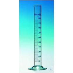 Measuring cylinder 100 ml Duran class B short line blue