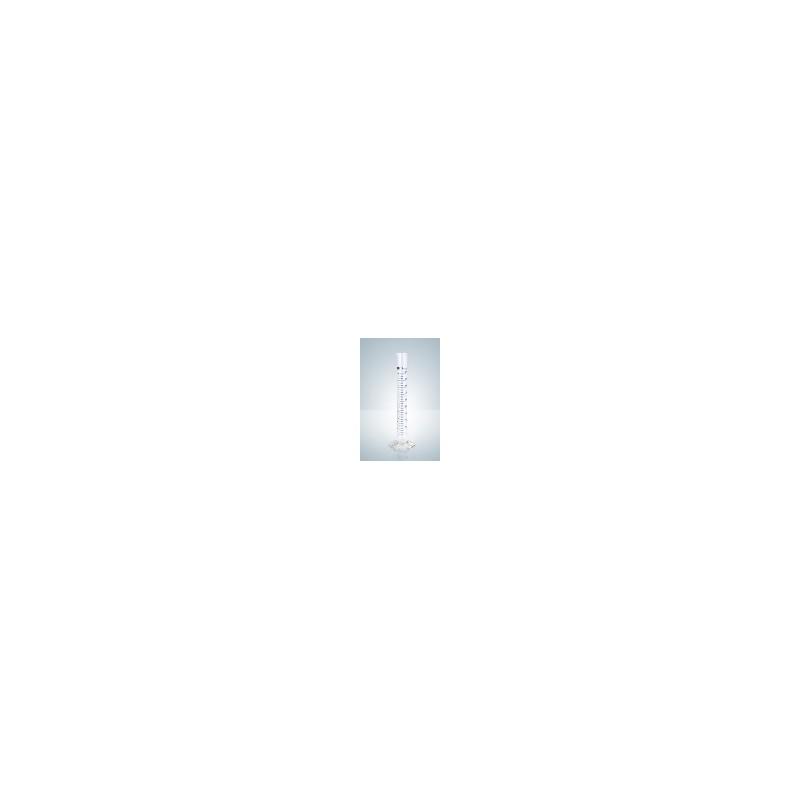 Cylinder miarowy klasy B 1000 ml niebieska podziałka kreskowa