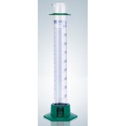 Cylinder miarowy klasy B 250 ml stopka z tw. niebieska