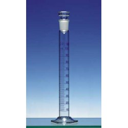 Mischzylinder 100 ml Duran Klasse A KB Ringteilung Glasstopfen
