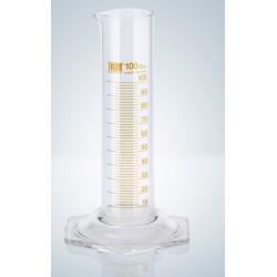 Cylinder miarowy klasy B 100 ml niska forma brązowa podziałka