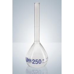 Messkolben 10 ml Duran Klasse A KB Bördelrand Teilung blau VE 2