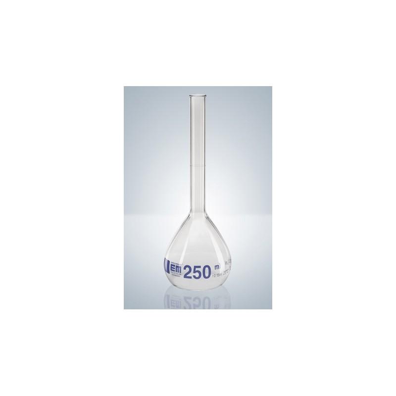 Messkolben 100 ml Duran Klasse A Bördelrand Teilung blau VE 2