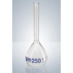 Messkolben 250 ml Duran Klasse A KB Bördelrand Teilung blau VE