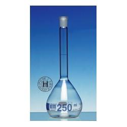 Volumetric flask 20 ml Duran class A CC no stopper blue