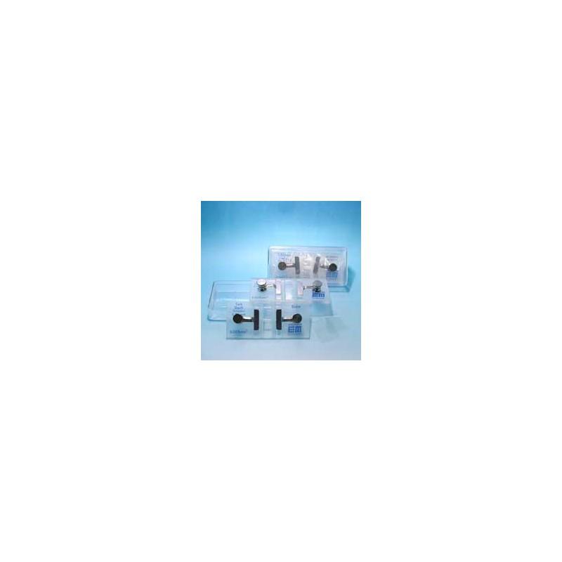 Zählkammer nach Nageotte dunkellinig mit Federklemmen Tiefe 0,5