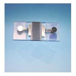 Zählkammer nach Bürker helllinig mit Federklemmen Tiefe 0,1 mm
