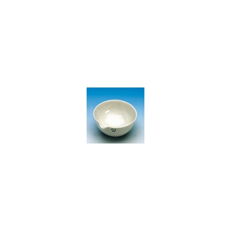 Evaporating basin 25 ml Ø 50 mm spout glazed without base heigh