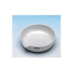 Abdampfschale 1100 ml Ø 200 mm Ausguss glasiert flache Form