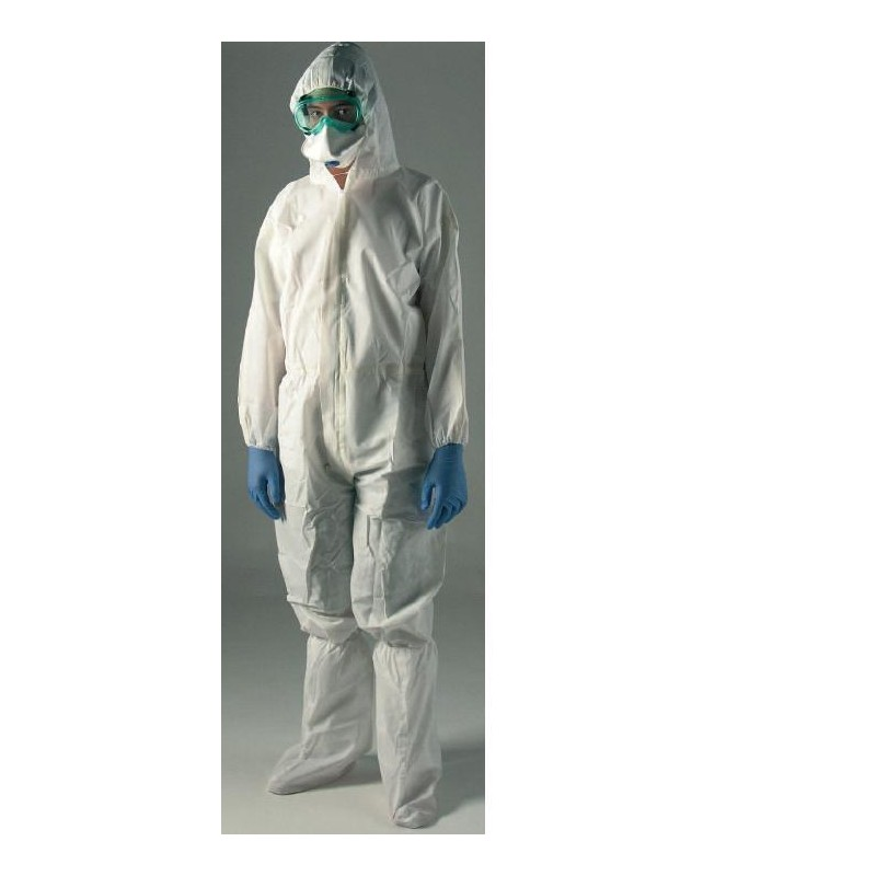 Coverall for protection against chemical and bio. agents PP/PE